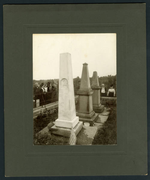 Johnston Cemetery monuments photograph