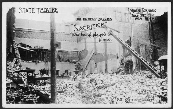 State Theater following Lorain tornado
