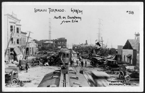 Downtown Lorain following 1924 tornado