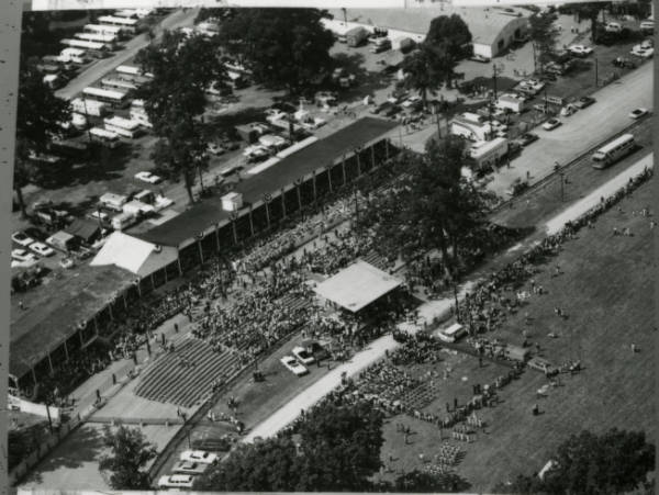 Grandstand at Armstrong parade