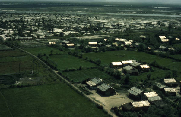 Residential area of a rural community photograph