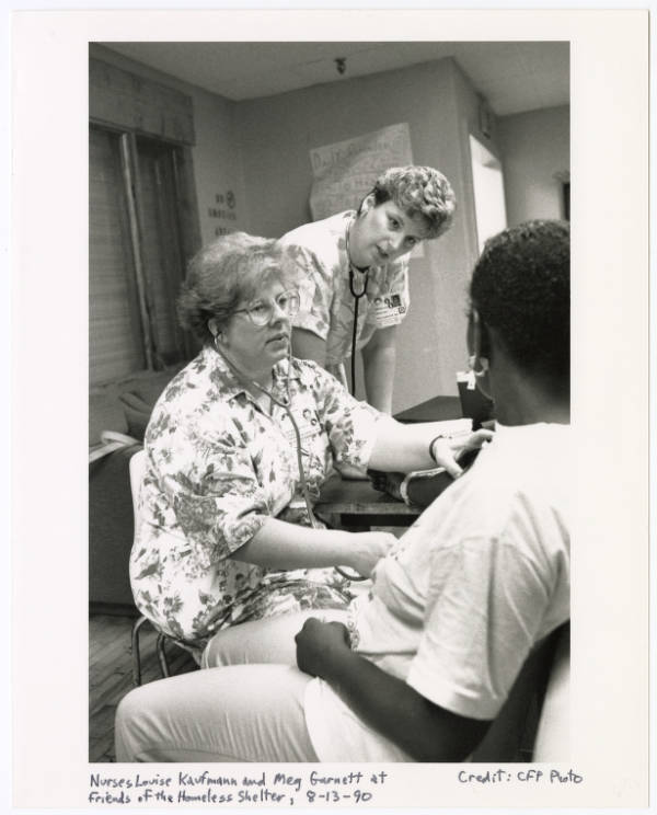 Nurses at Friends of the Homeless Shelter photograph