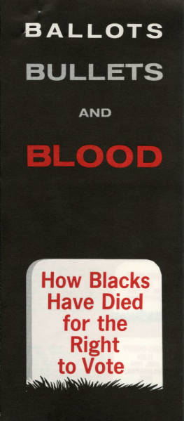 'Ballots, Bullets and Blood' pamphlet
