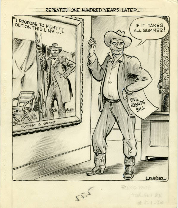 Lyndon B. Johnson editorial cartoon