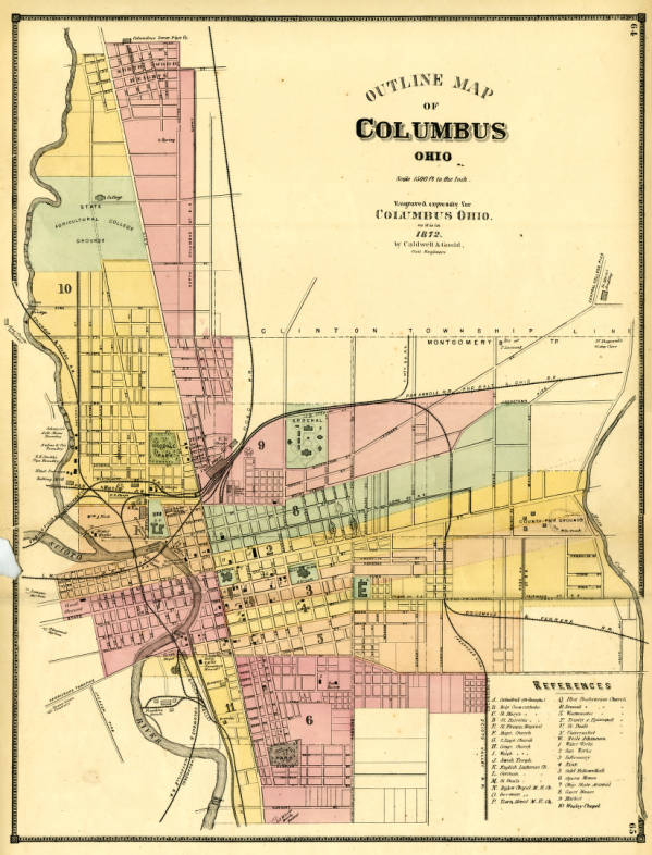 Columbus outline map