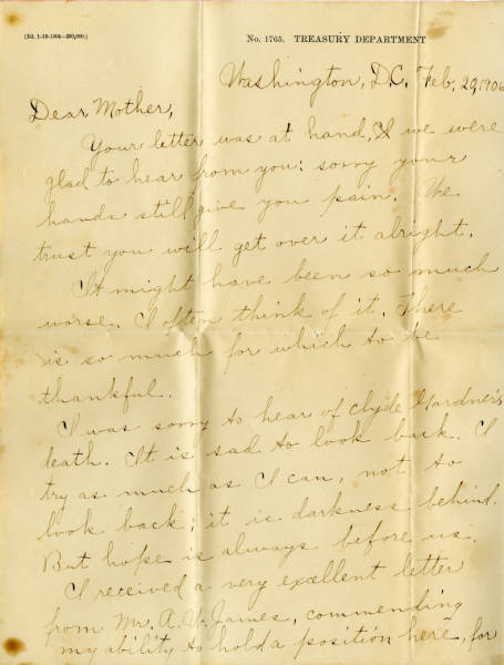 Evva Kenney Heath letter to Louise Kenney