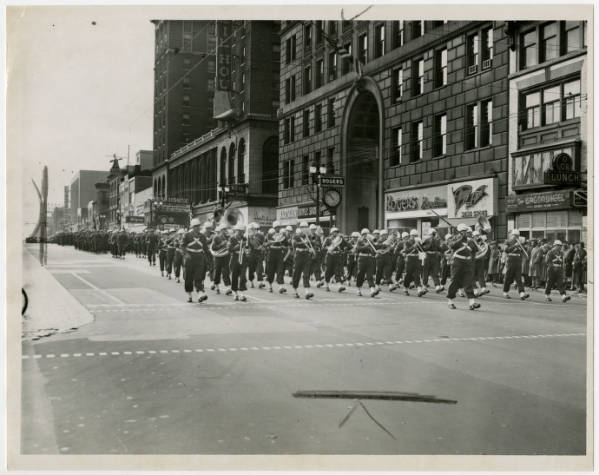 Armistice Day parade in Columbus photograph