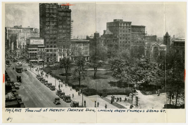 Downtown Columbus from Majestic Theatre Building photograph