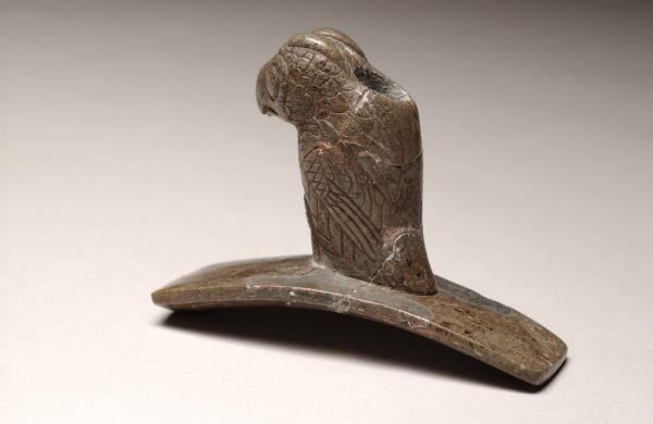 Great horned owl effigy pipe photograph