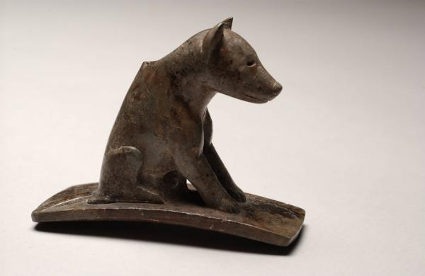 Gray wolf effigy pipe photograph