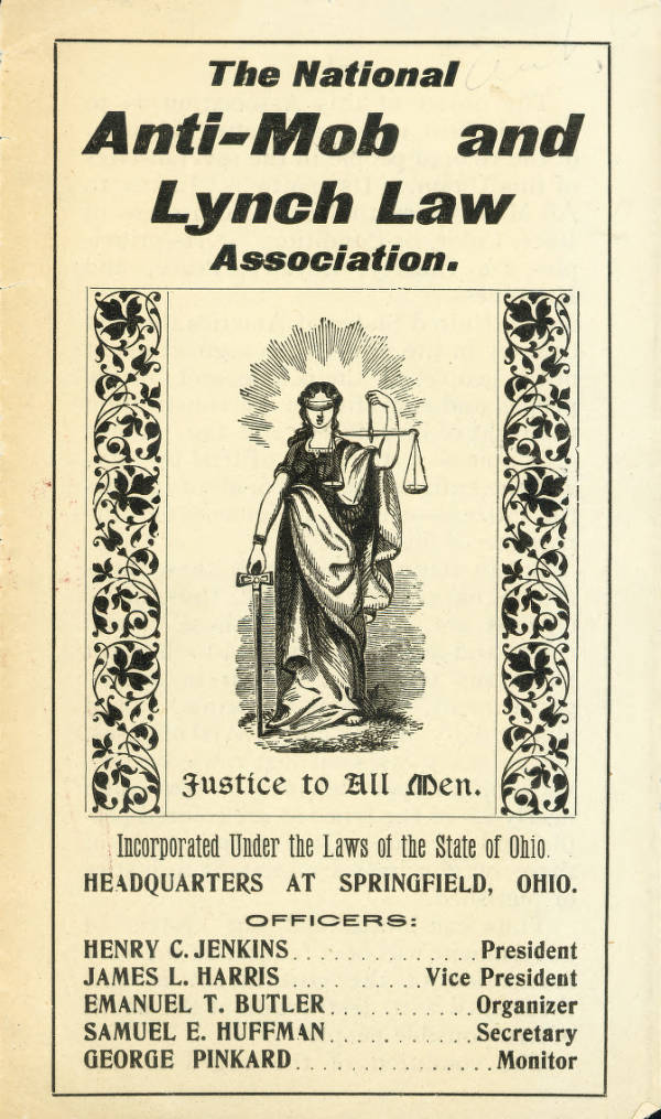 National Anti-Mob and Lynch Law Association Brochure