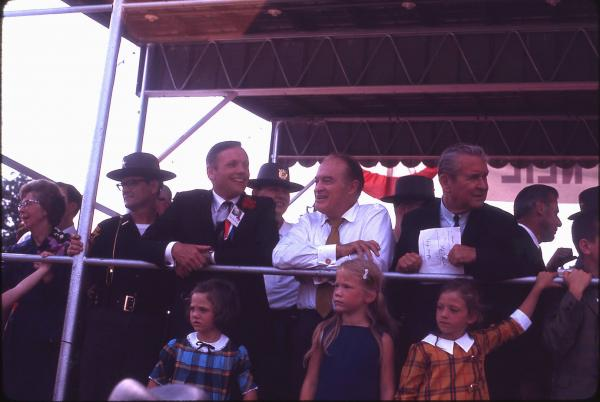 Neil Armstrong, Bob Hope and James Rhodes at Homecoming Parade photographs