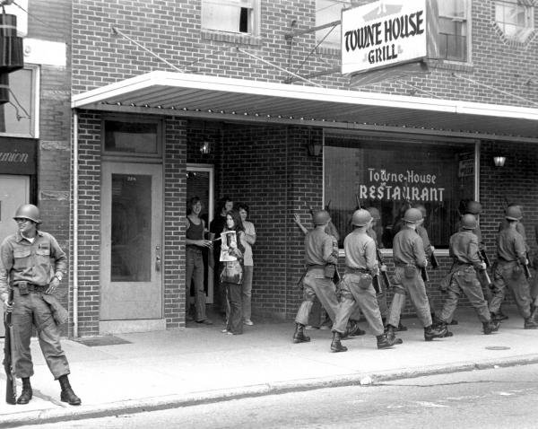 Ohio National Guard in Athens photograph