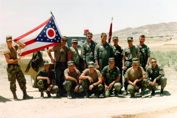 Ohio troops during Persian Gulf War photograph