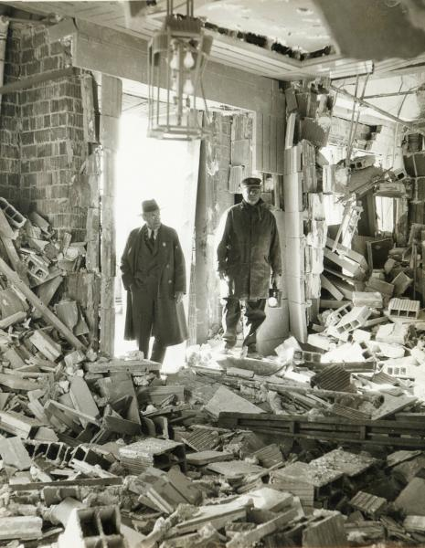 Ohio State Office Building After Explosion photograph