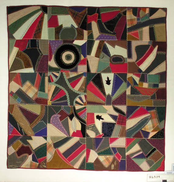 Pieced Contained Crazy Quilt