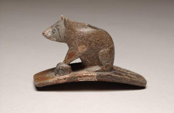 Raccoon effigy pipe photograph