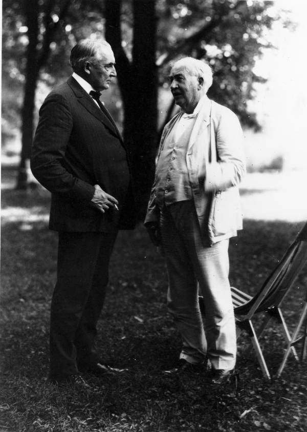 Warren G. Harding and Thomas A. Edison photograph