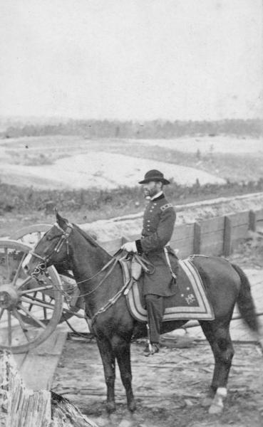 William Tecumseh Sherman on horseback carte de visite