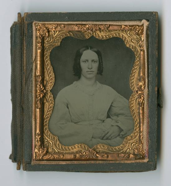 Young woman ambrotype