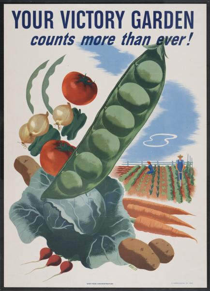 'Your Victory Garden Counts More Than Ever' poster