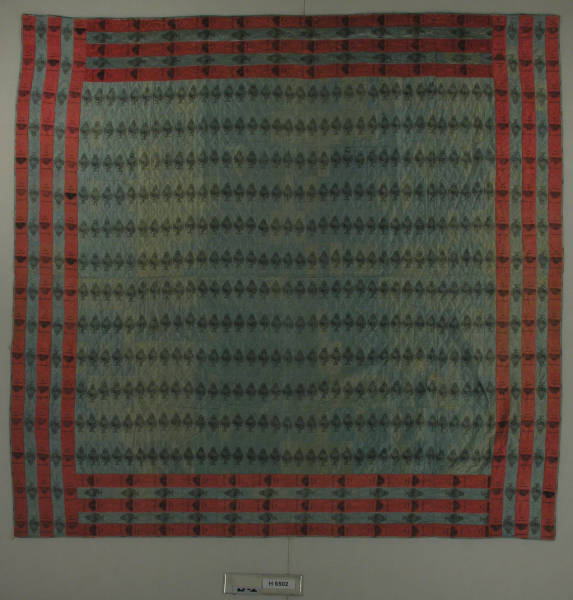 Quilt with silk ribbons