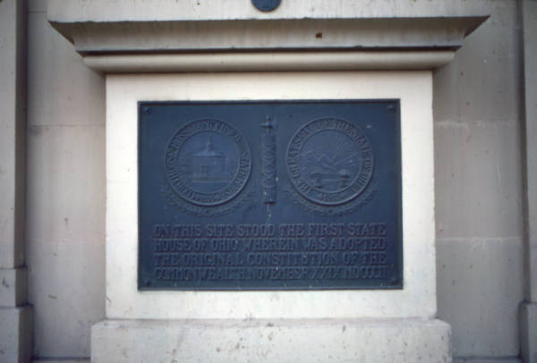 Ross County Courthouse plaque