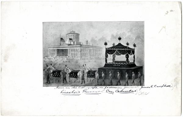 Abraham Lincoln Funeral Drawing in Columbus, Ohio