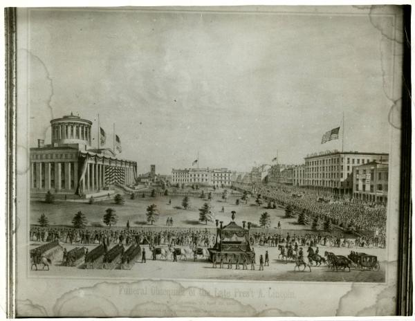 Abraham Lincoln Funeral Drawing in Columbus, Ohio, side 1