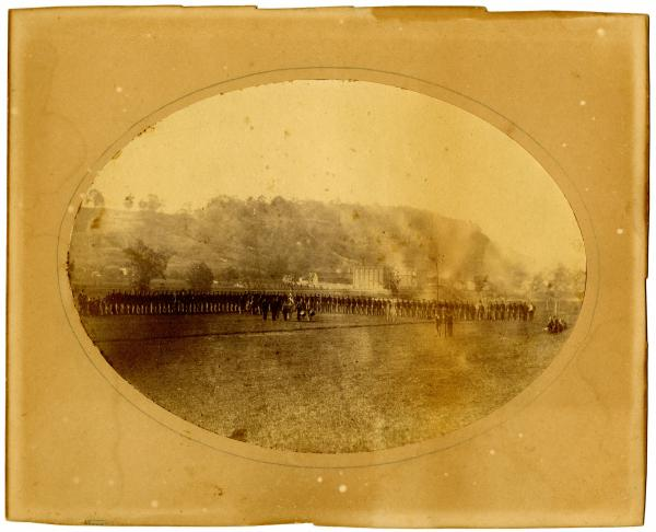 Mustering of 7th Ohio Volunteer Cavalry, Company H photograph