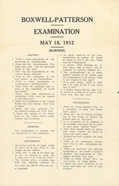 Boxwell-Patterson Examination and Newspaper Clipping