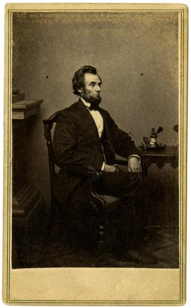 Abraham Lincoln portrait, photographic print
