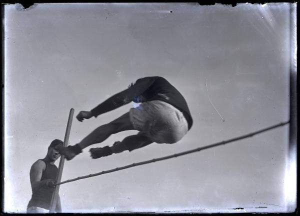 Jim Thorpe clearing high jump