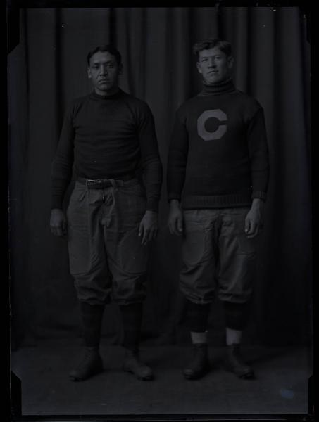 Jim Thorpe and teammate