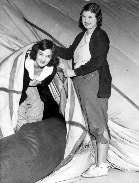 Women in Balloon Room at Goodyear Tire & Rubber Company photograph