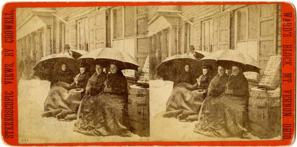 Temperance Crusaders in the snow photograph