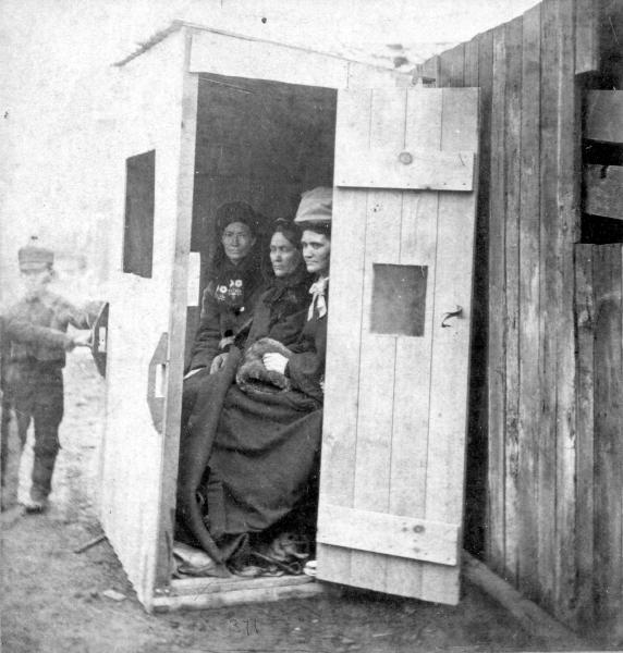 Temperance Crusaders in Booth photograph