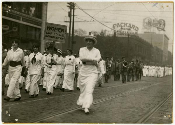 Women on parade in Cleveland