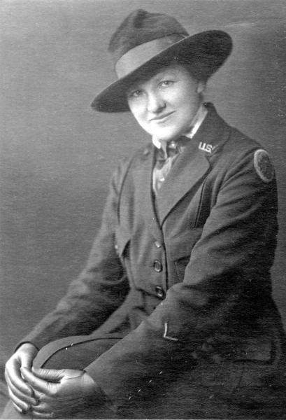 Lois Ruth Campbell in Army Nurse's Corps Uniform