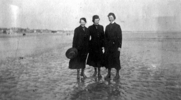 Lois Ruth Campbell with Two Nurses