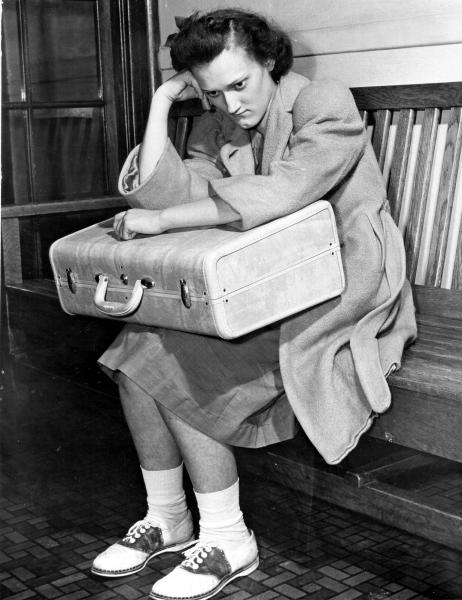 Ohio Reformatory for Women Inmate Holding Suitcase