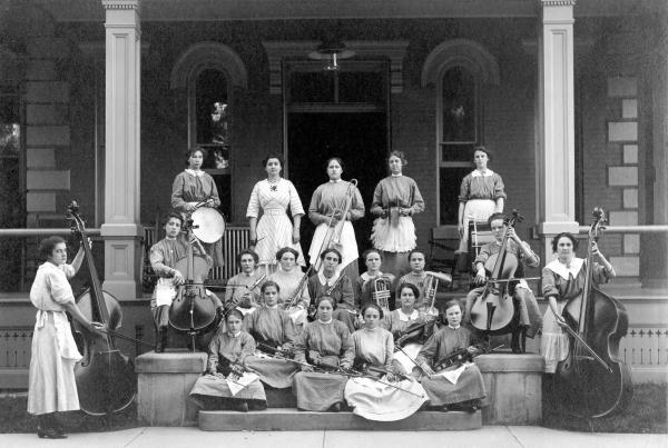 Girls' Industrial School band photograph