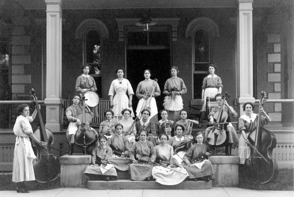Girls' Industrial School band photograph