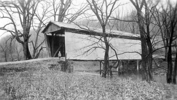 Guernsey County covered bridge photograph