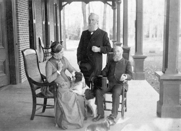 Rutherford and Lucy Hayes and Mr. H. Smith