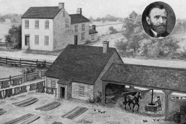 Ulysses S. Grant boyhood home and tannery postcard