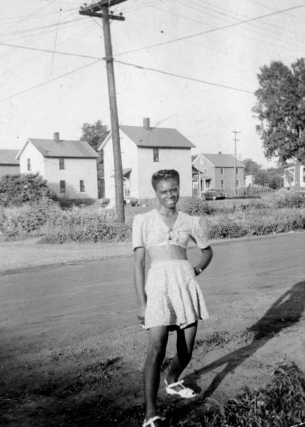 Young woman in summer clothes photograph