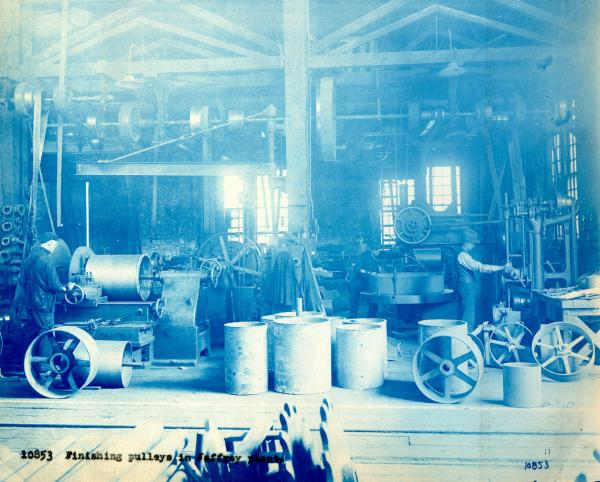 Jeffrey Manufacturing Company Pulley Finishing Shop