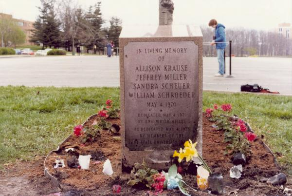 Marker for Students killed at Kent State University
