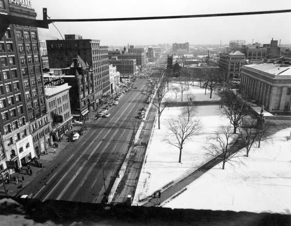 Broad Street and Capitol Square in Columbus photograph